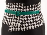 Как сделать широкий пояс из строй юбки (5)