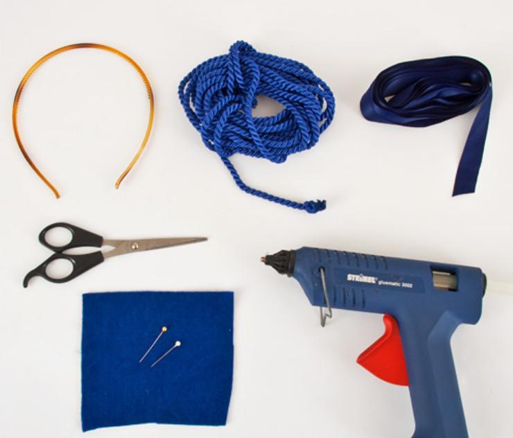 Как украсить ободок шнуром (1)