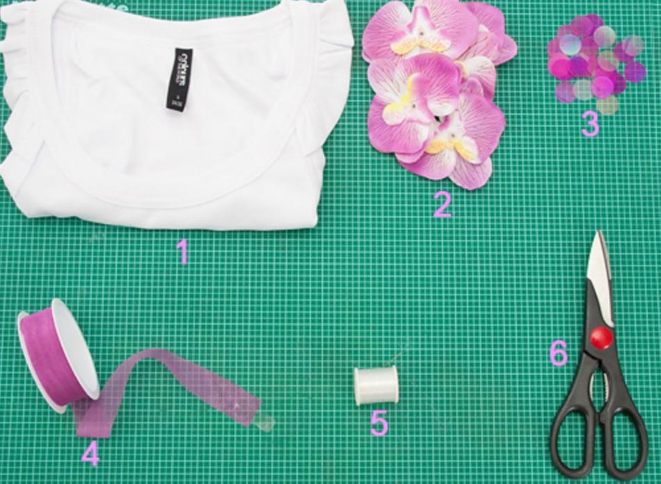 Орхидеи как украшение майки (11)