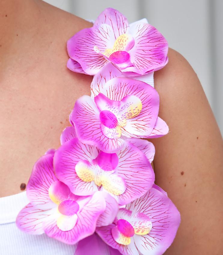Орхидеи как украшение майки (9)