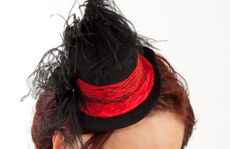 Праздничная шляпка-заколка (22)