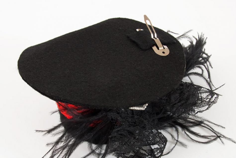 Праздничная шляпка-заколка (1)