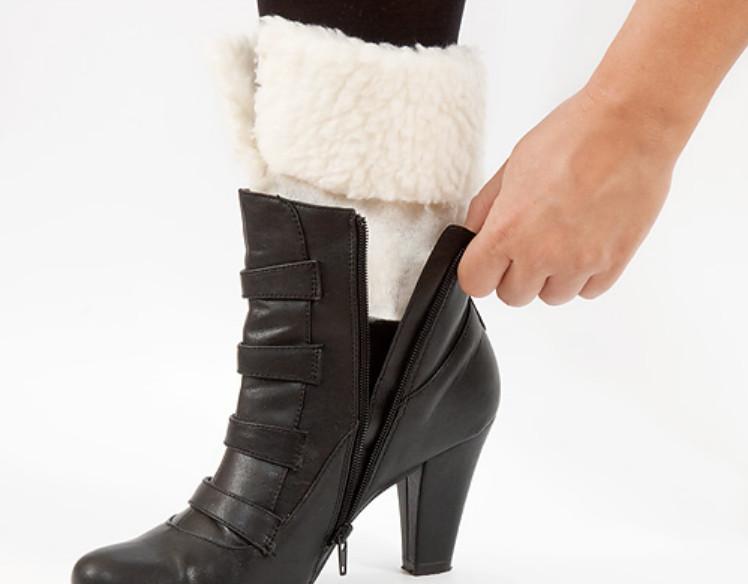 Как сделать меховый утеплитель для ботинок (7)