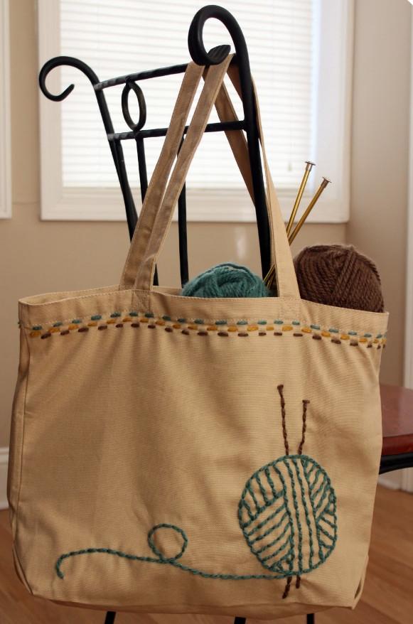 Авторская сумка в подарок для любителей вязания (7)