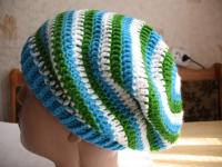 Весенне-осенняя шапочка в полоску (2)