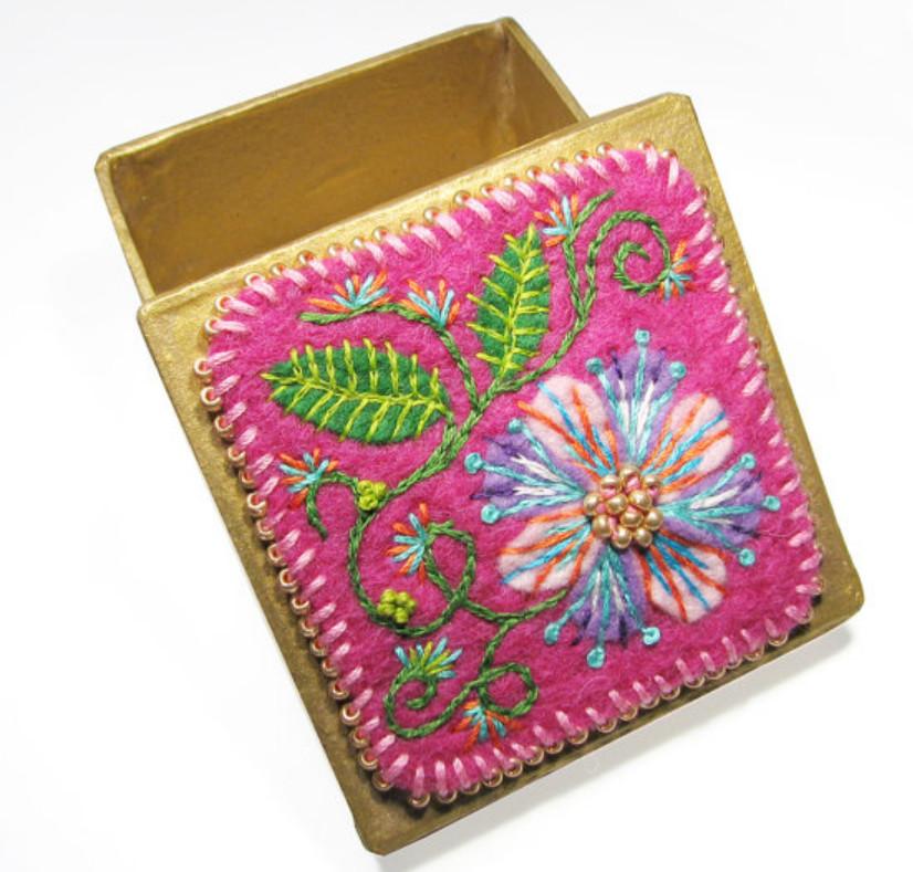 Как сделать браслет с вышивкой (1)