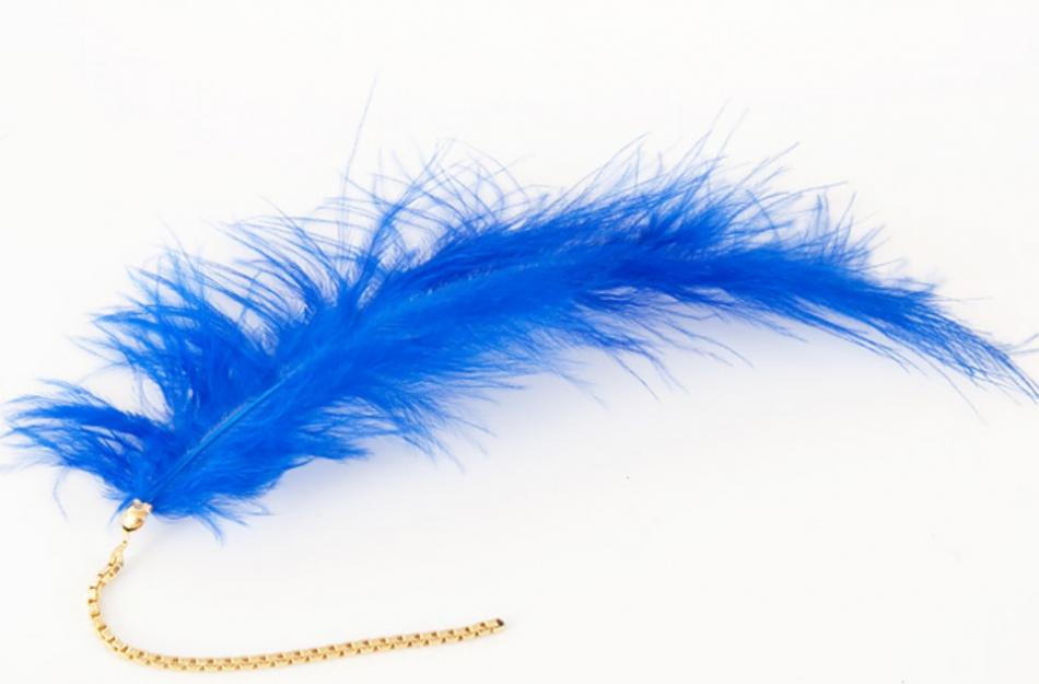 Как сделать серьги из перьев синей птицы (9)