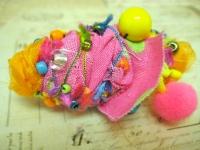 Как сделать необычные текстильные бусины (2)