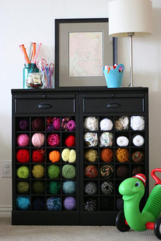 Как и где хранят пряжу для вязания (11)