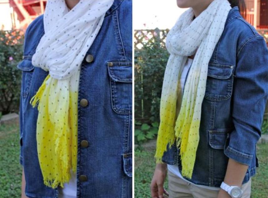 Как сделать шарф с оттенком (2)