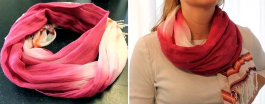 Как сделать шарф с оттенком (1)