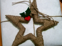 Как сделать новогоднюю звезду (8)