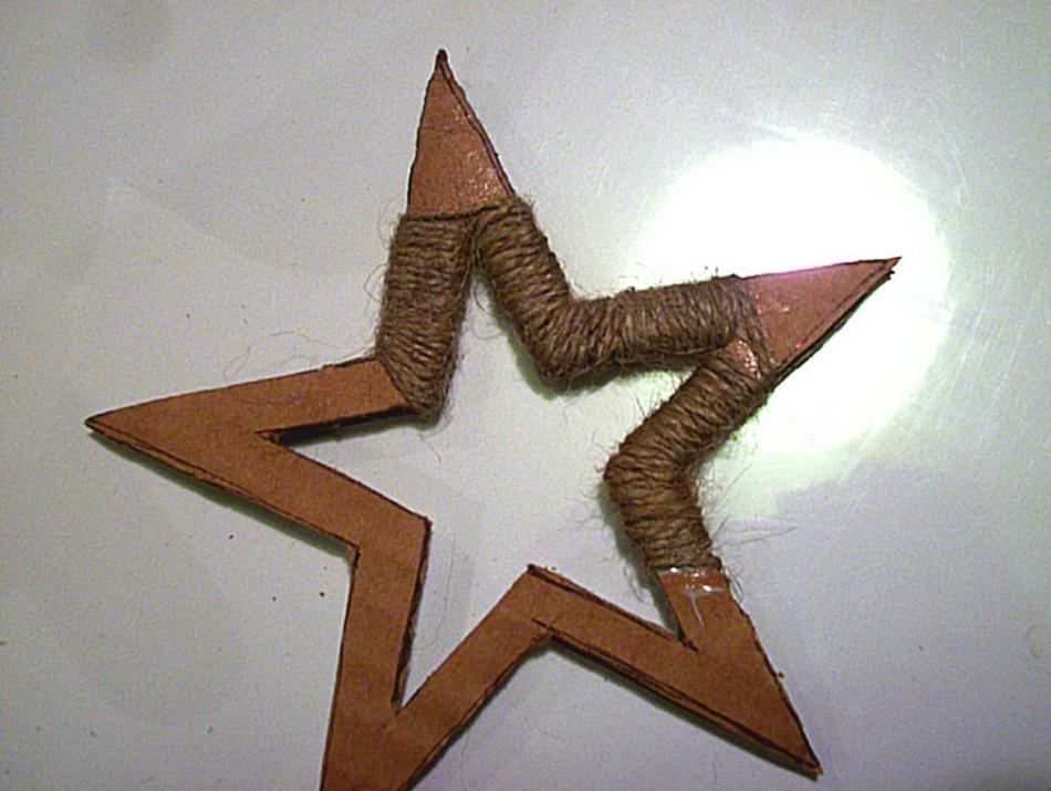 Как сделать новогоднюю звезду (4)