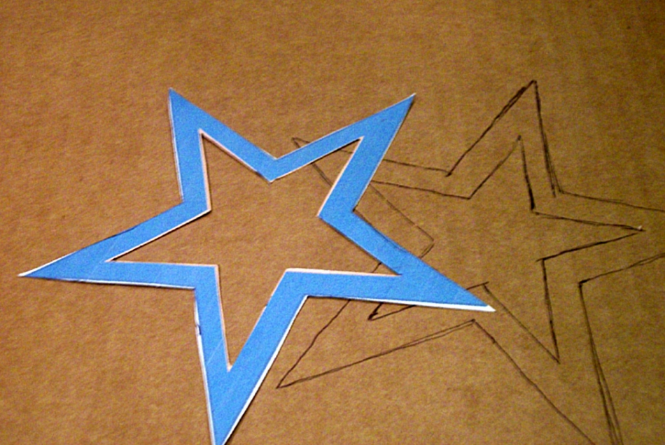 Как сделать новогоднюю звезду (1)