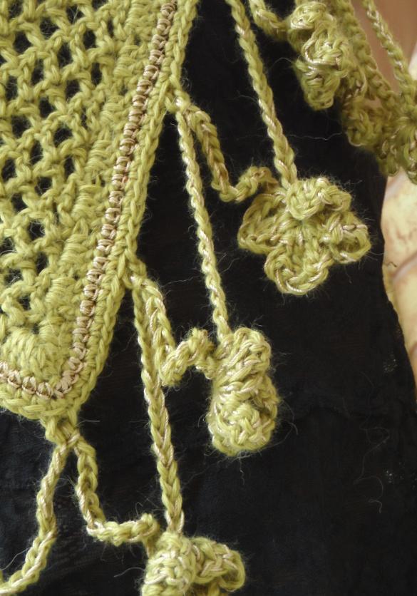 Шаль-платок Золотая ветвь оливы (7)