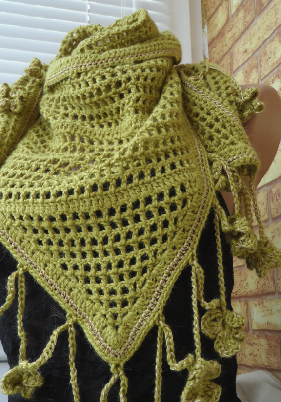 Шаль-платок Золотая ветвь оливы (6)