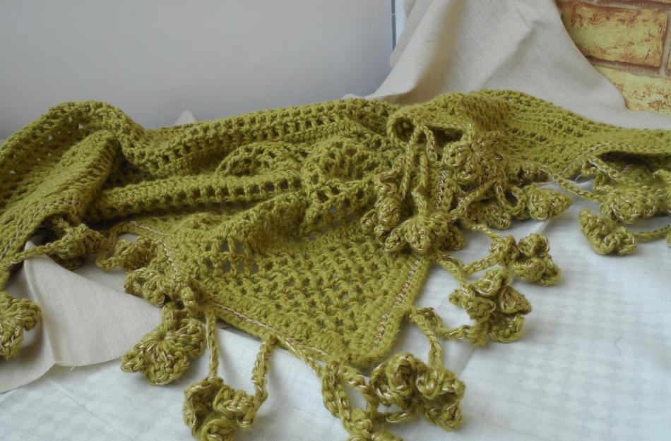 Шаль-платок Золотая ветвь оливы (2)