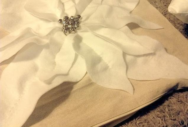 Диванная подушка Рождественская звезда (6)