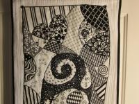 Как сшить черно-белое тканевое панно (11)