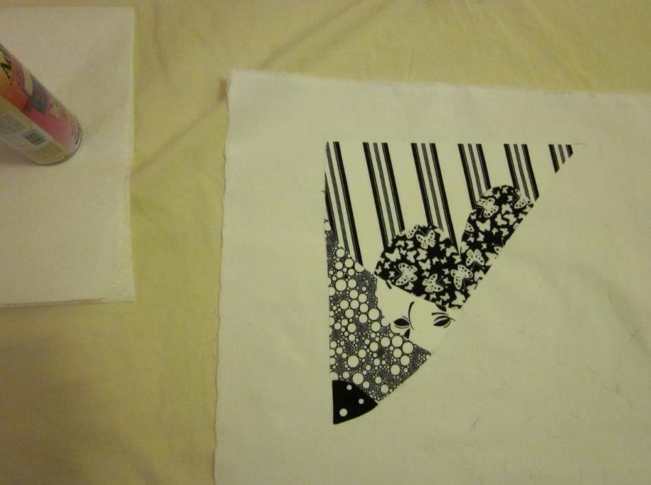Как сшить черно-белое тканевое панно (6)