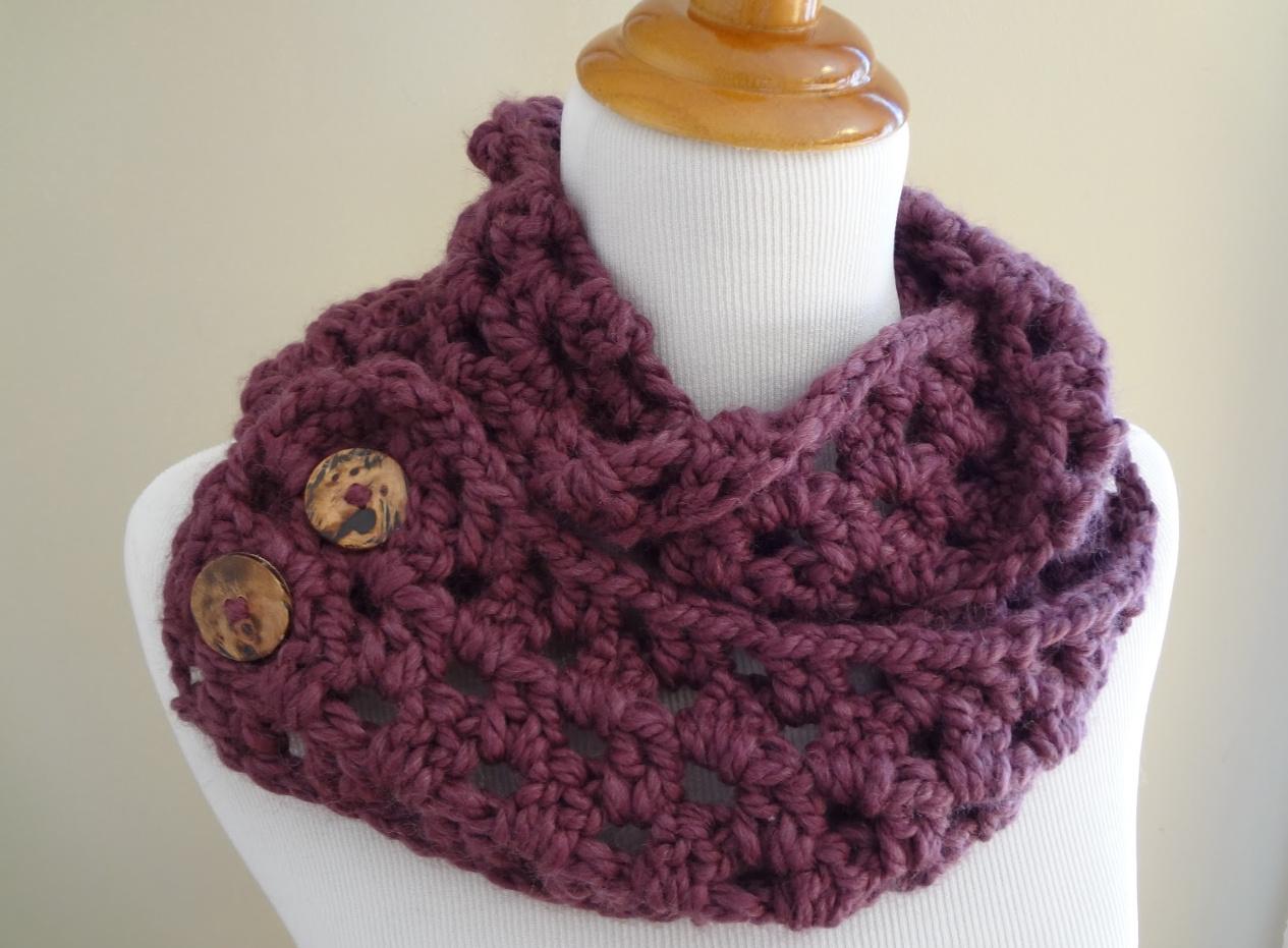 Как связать самый легкий шарф-снуд (7)