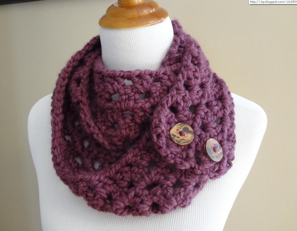 Как связать самый легкий шарф-снуд (6)