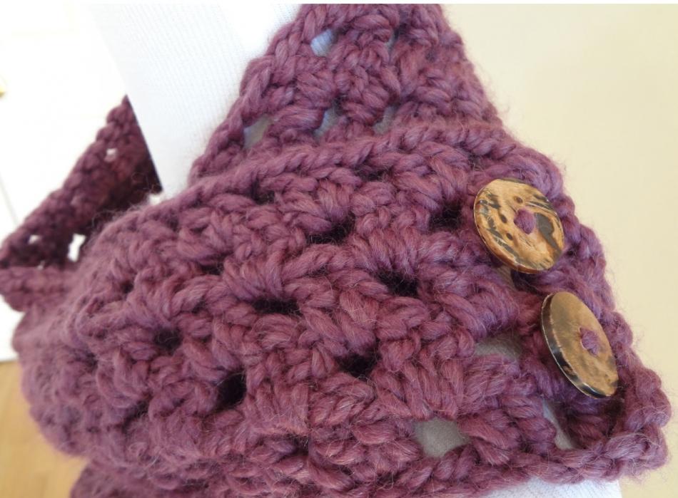 Как связать самый легкий шарф-снуд (1)