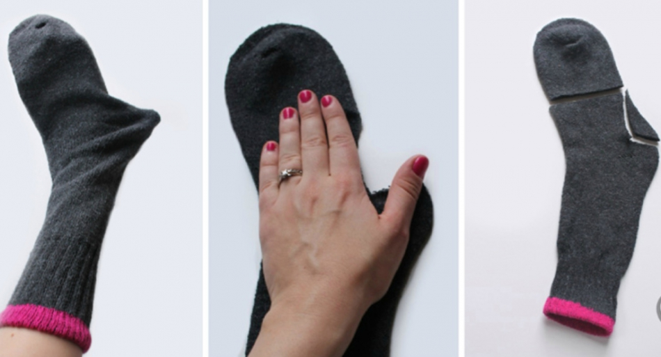 Как сшить митенки из носков (7)
