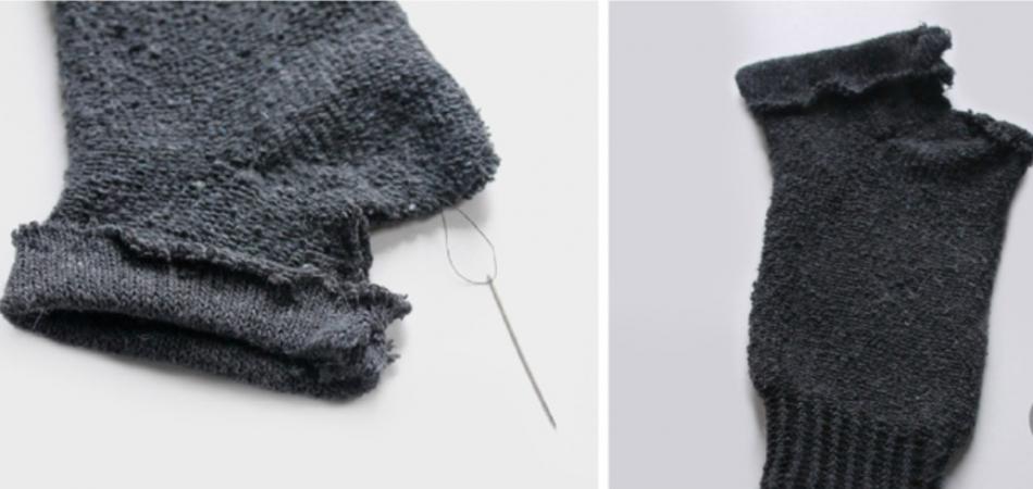 Как сшить митенки из носков (5)