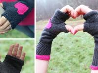 Как сшить митенки из носков (1)