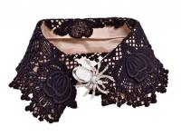 Как сделать нашейное украшение от воротничка мужской сорочки (13)