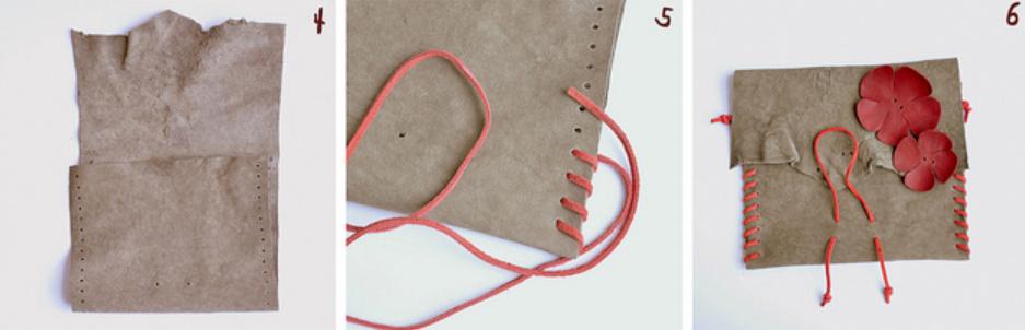 Как сделать оригинальную кожаную сумочку
