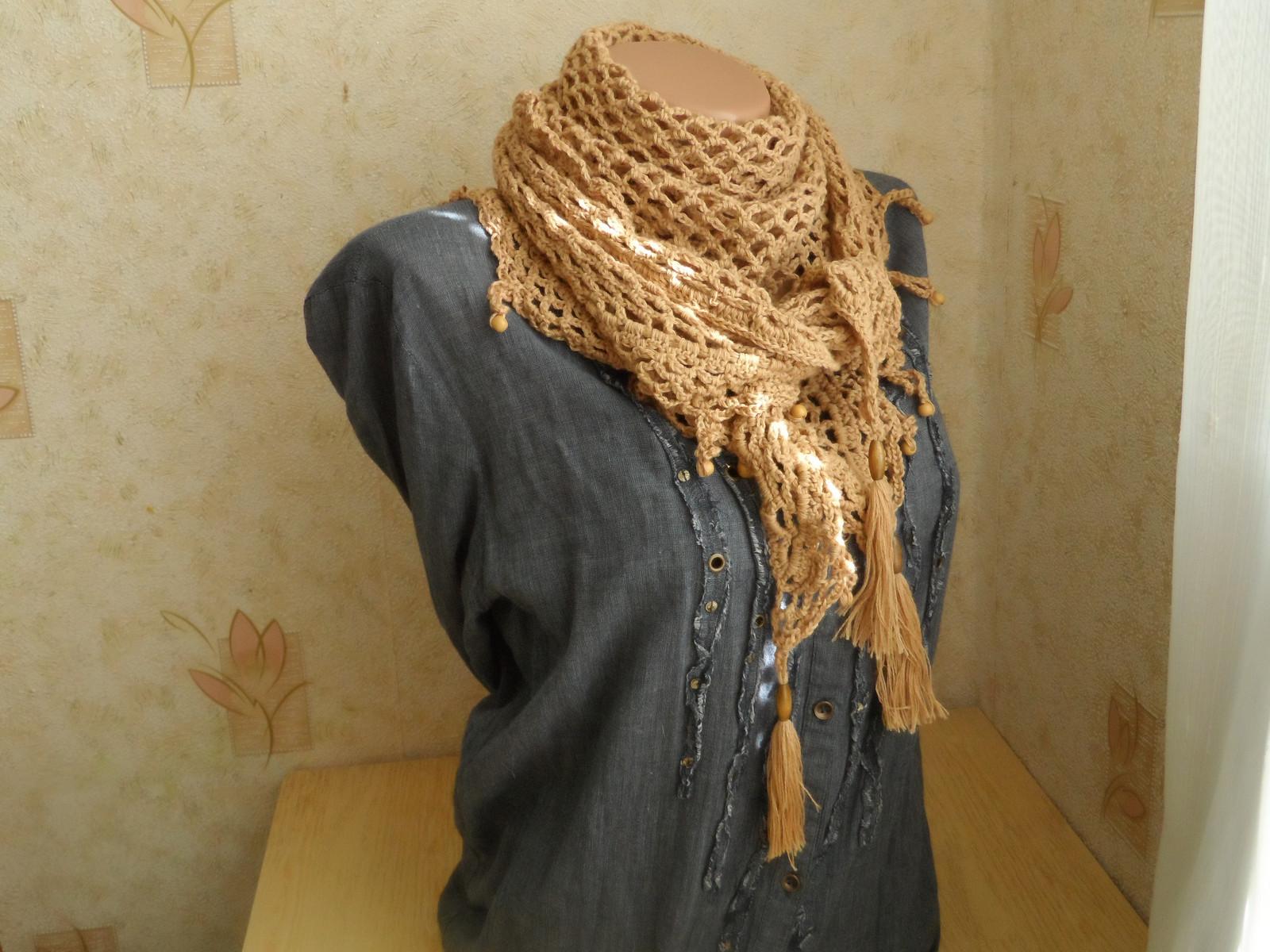 Вязанный платок на шею
