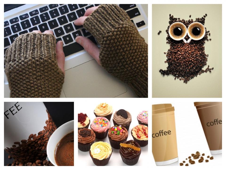 Митенки под названием Перерыв на кофе (10)