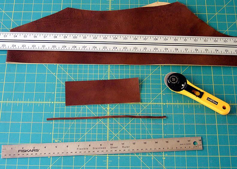 Кожаный браслет с вышивкой (3)