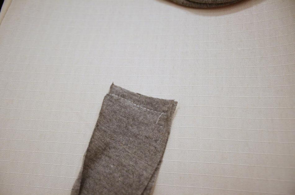Креативный шарфик из трикотажа и вязаного элемента (8)