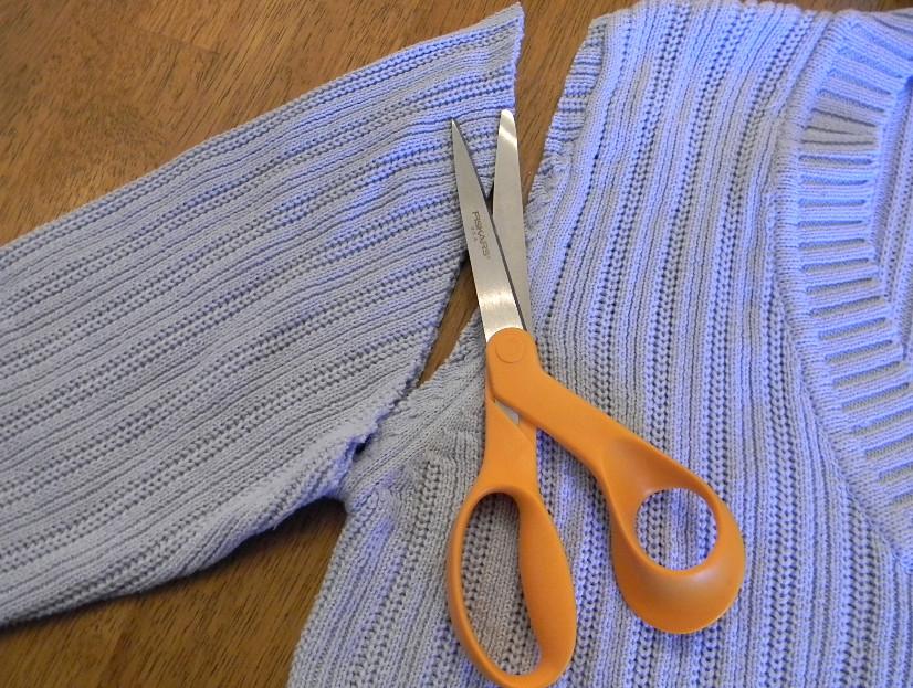 Браслет из старого пуловера (5)