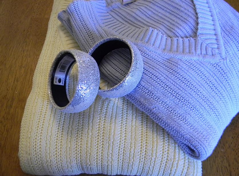 Браслет из старого пуловера (4)