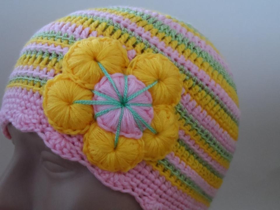 Две шапочки под названием Краски наступающего лета (10)