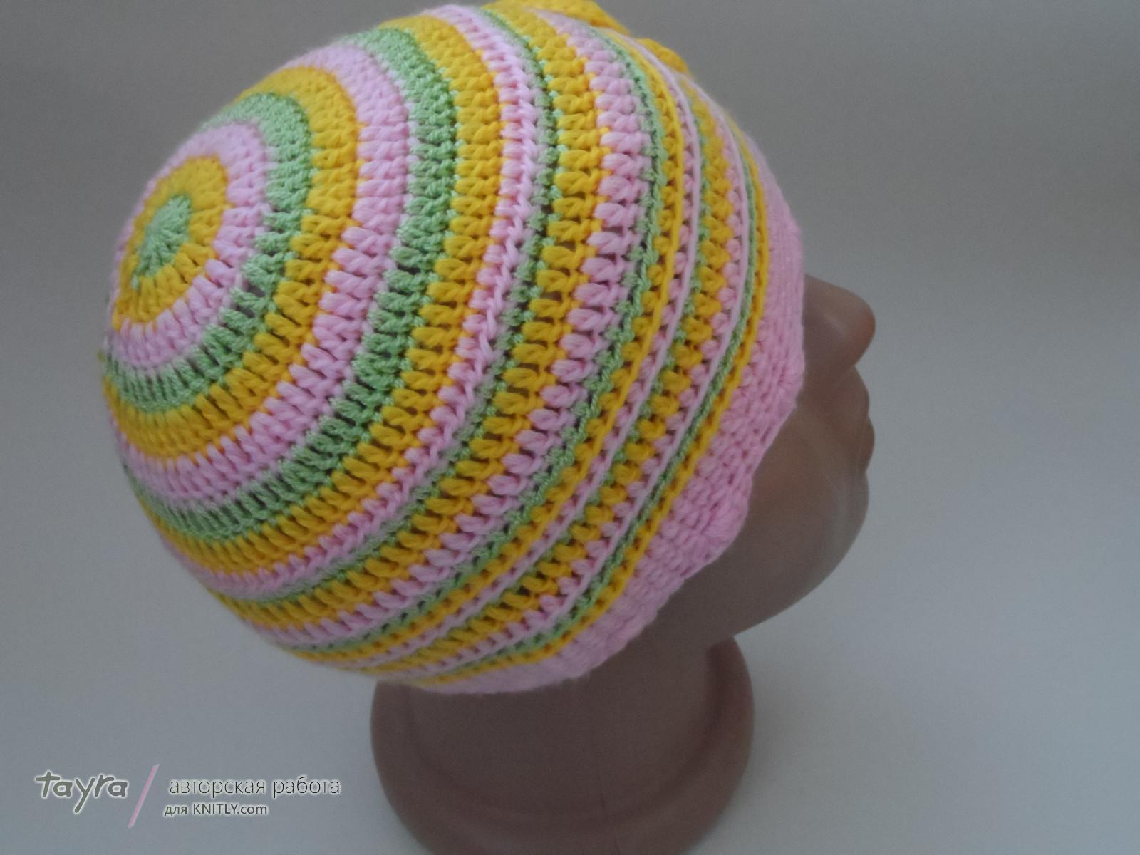 дно детской шапочки крючком схема