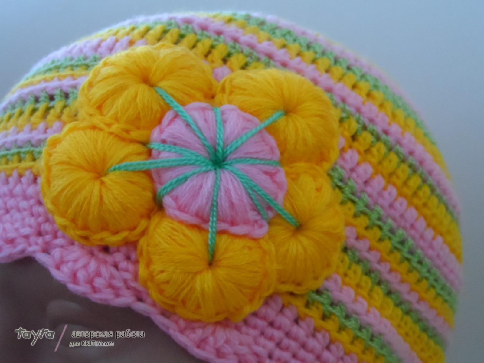 Две шапочки под названием Краски наступающего лета (4)