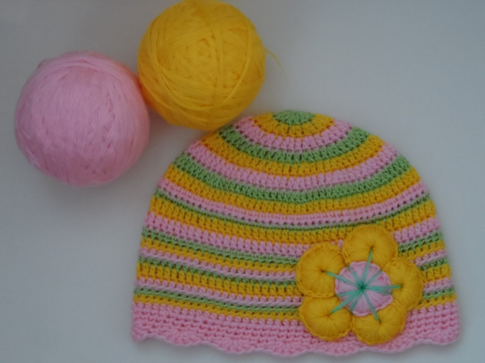 Две шапочки под названием Краски наступающего лета (3)