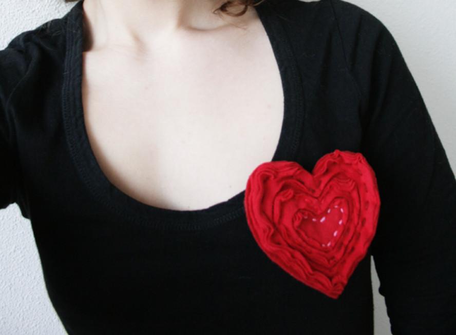Брошь из слоеного сердца (6)