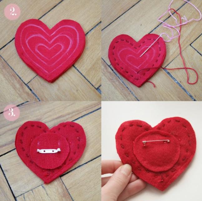 Брошь из слоеного сердца (4)