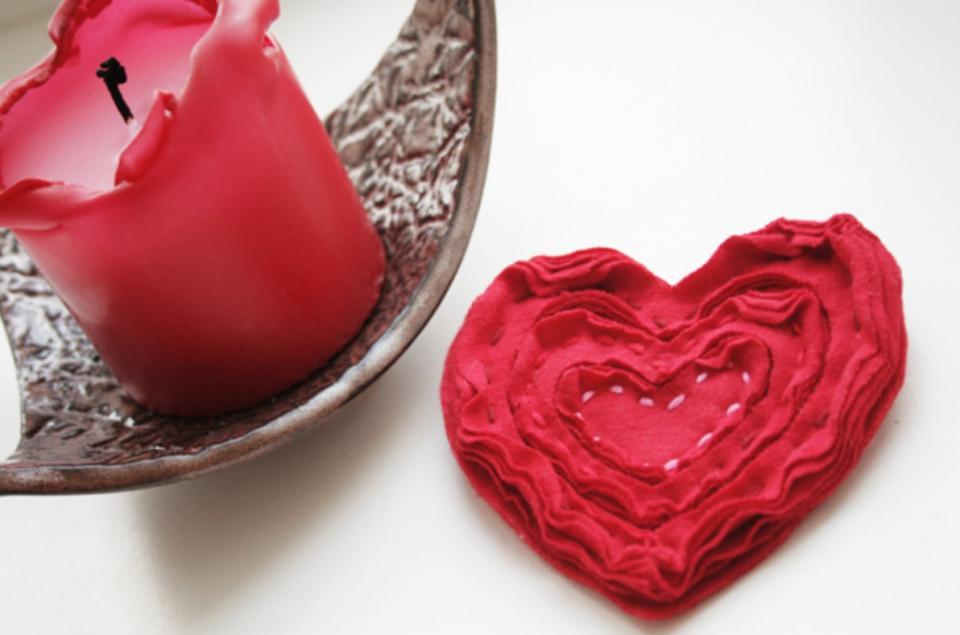 Брошь из слоеного сердца (1)