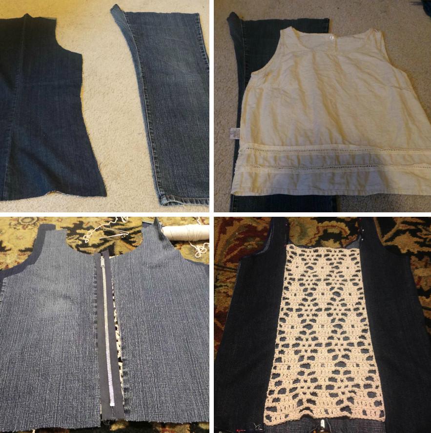 Как сшить топ из старых джинсов (2)
