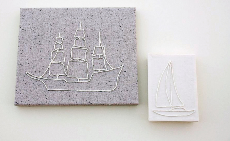 Декоративное панно в виде корабля (10)