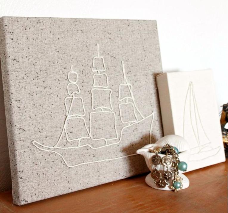 Декоративное панно в виде корабля (9)