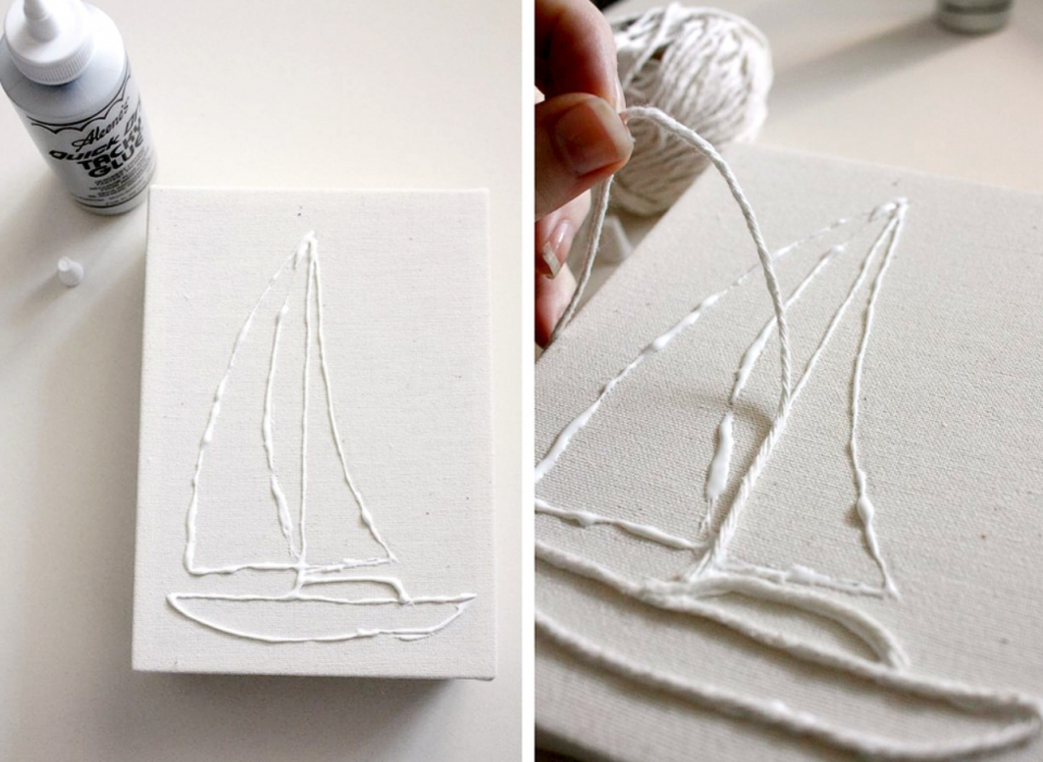 Декоративное панно в виде корабля (3)