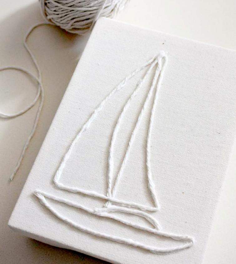 Декоративное панно в виде корабля (2)